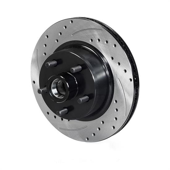 Wilwood 160-14324-BK SRP Drilled & Slotted Hub & Rotor, Black, LH