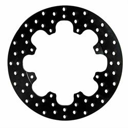 Wilwood 160-1601 Drilled Steel Rear Drag Rotor, 11.44 x .350 Inch