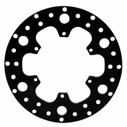Wilwood 160-3455 Drilled Steel Midget Front Rotor, 10.50 Inch