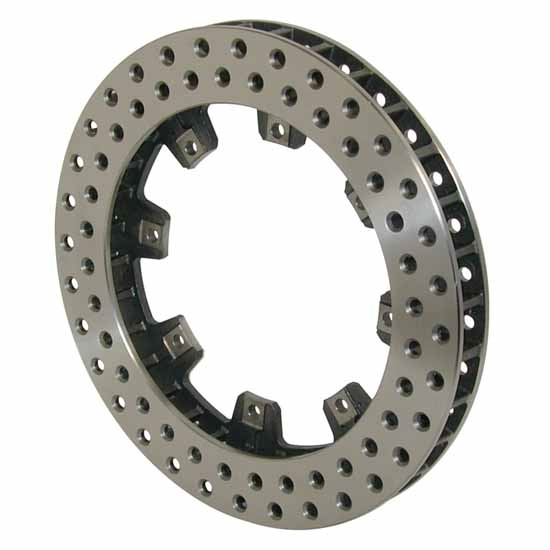 Wilwood 160-5863 Ultralite 32 Vane Drilled Vented Iron Rotor, 11.75 In