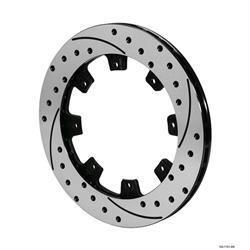 Wilwood 160-7104-BK SRP-BLK 32 Vane Iron Rotor, 12.19 Inch