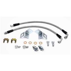 Wilwood 220-10417 Flexline Rear Brake Line Kit, 2005-08 Mustang, CPB