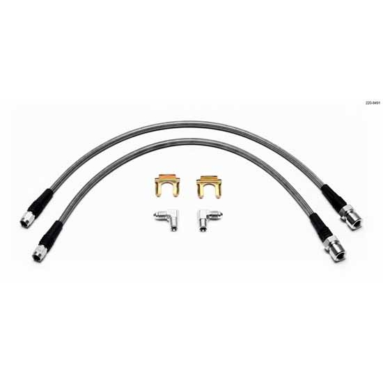 Wilwood 220-8491 Flexline Front Brake Line Kit, Mini-Cooper
