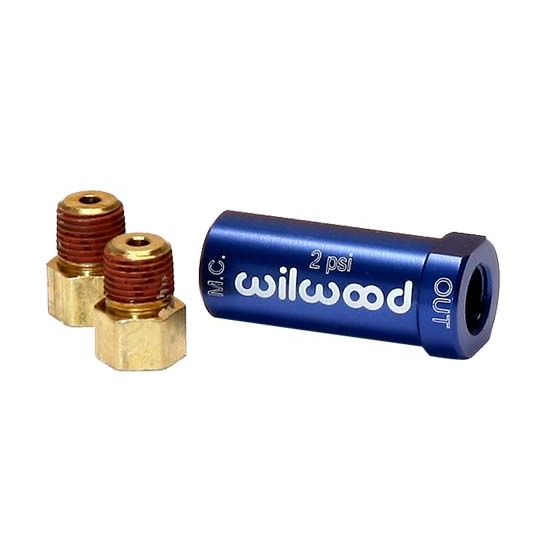 Wilwood 260-13783 Blue 2 PSI Residual Pressure Valve with Fittings