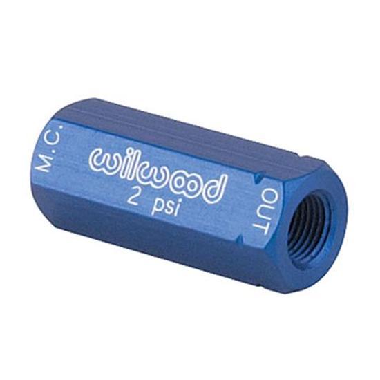 Wilwood 260-1874 Blue Disc Brake Residual Valve, 2 PSI