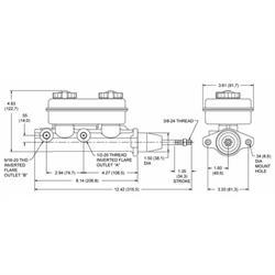"Wilwood 260-4893 1-1//16/"" Bore Tandem Master Cylinder"
