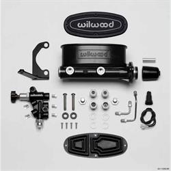 Wilwood 261-13269-BK H/V Tandem Master Cylinder Kit, Brkt/Valve, 1 In.