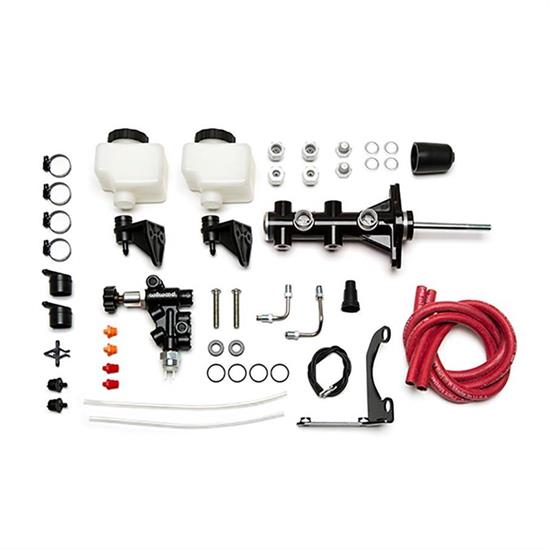 Wilwood 261-14250-BK Remote Tandem Master Cylinder Kit, 15/16 In, Black