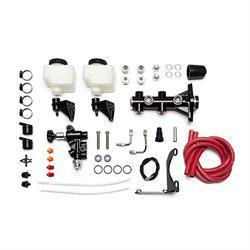 Wilwood 261-14251-BK Remote Tandem Master Cylinder Kit, 1 Inch, Black