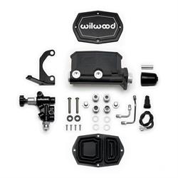 Wilwood 261-15661-BK Compact Tandem M/C Kit with RH Bracket/Valve