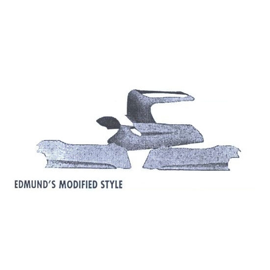 Edmunds Mod Style and Trostle Spring Fiberglass Hood w/Bubble
