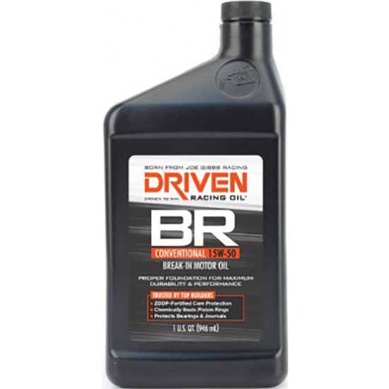 Driven Racing Oil 00106 BR Conventional 15W50 Break-In Oil, 1 Quart