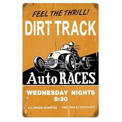Dirt Track Vintage Tin Sign
