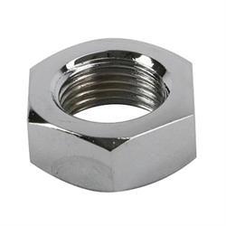 Chrome Steel Jam Nut, 1/2 Inch-20 RH NF Fine Thread