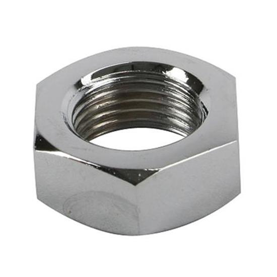 Chrome Steel Jam Nut, 11/16 Inch-18 RH NF Fine Thread