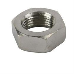 Stainless Jam Nut, 3/8 Inch-24 RH NF Fine Thread