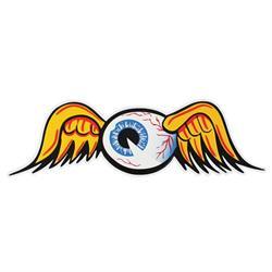 Flying Eyeball Embossed Aluminum Sign