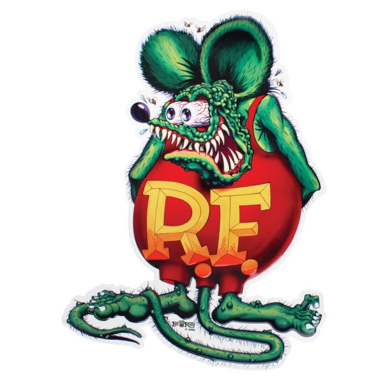 Rat Fink Embossed Aluminum Sign