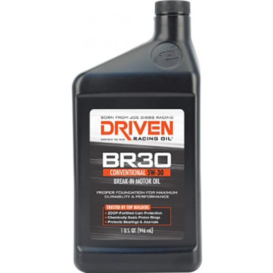 Driven Racing Oil 01806 BR30 Conventional 5W30 Break-In Oil, 1 Quart