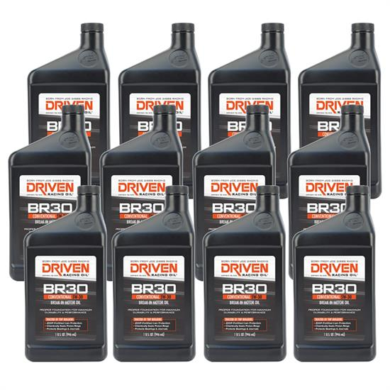 Driven Racing Oil 01807 BR30 Conventional 5W30 Break-In Oil, 12 Quarts