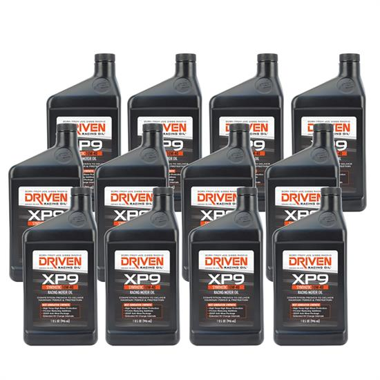 Driven Racing Oil 03207 XP9 Synthetic 10W40 Motor Oil, 12 Quarts