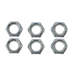 1/2 Inch-20 Fine Thread Nylock Half Nuts, 6 Pack