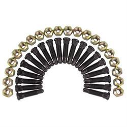 Wheel Stud and Lug Nut Combo, 5/8 Fine Thread, 3/8 Knurl Length