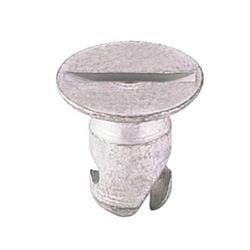 Steel Flush Mount Quarter Turn Fasteners, .650 Inch Grip, Pack/10