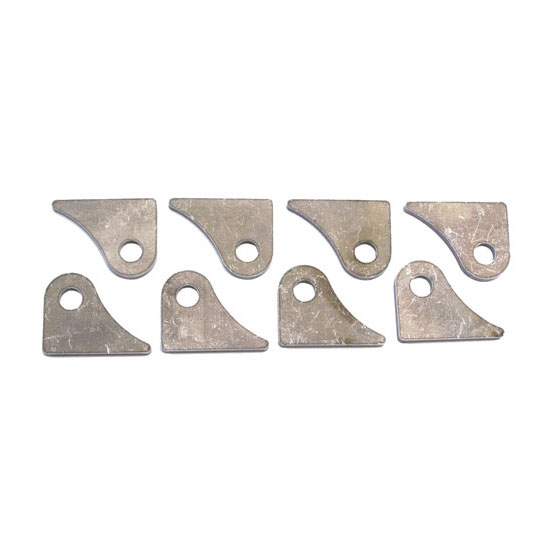 Chassis Tabs for Suspension Installation, 1/2 Inch Hole, Set of 8