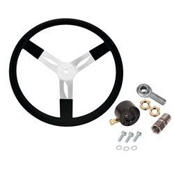 Speedway Aluminum Steering Wheel Combo, 15 Inch