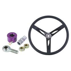 Steel Dish Steering Wheel Combo - 15 Inch