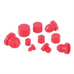 Speedway Plastic AN Fitting Cap and Plug Kit, 72 Pieces