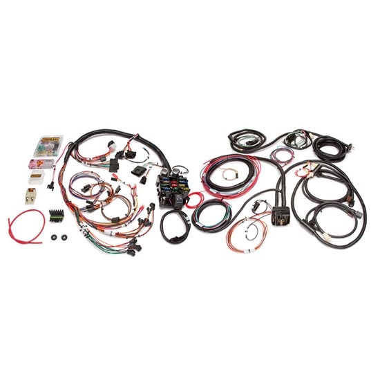 painless wiring 10150 21 circuit cj jeep wiring harness 1975 86 rh speedwaymotors com jeep cj wiring harness install jeep cj ez wiring harness