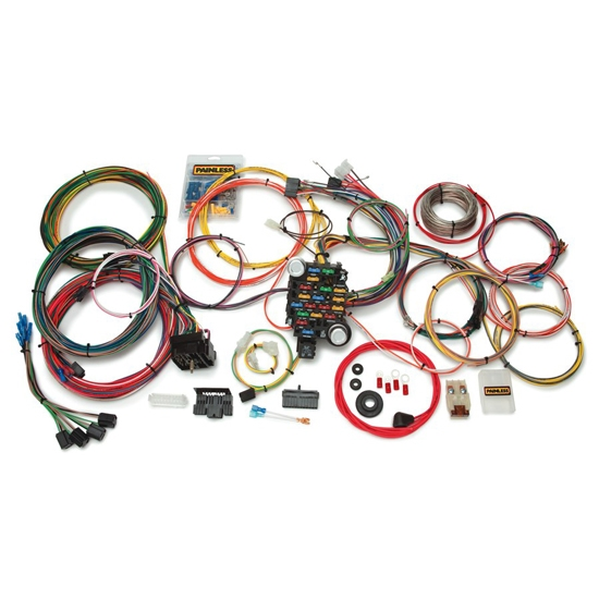 painless wiring 10205 27 circuit classic plus wiring harness73 87 chevy, 73 87 gmc, 27 number of circuits, fuse block included, compatible with gm column