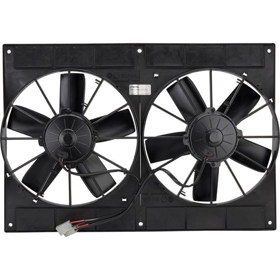 Spal 30102052 Dual Electric Cooling Fan  Straight Blade