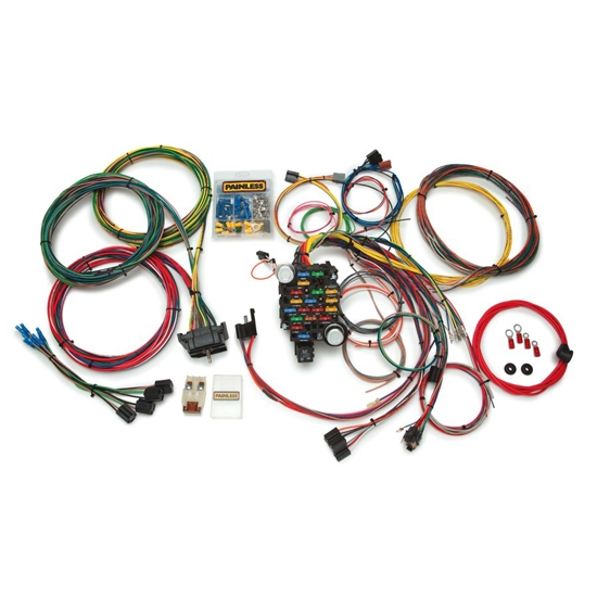 painless 10206 1967 1972 gm 28 circuit pickup chassis wiring harness rh speedwaymotors com gm wiring harness color codes gmc trailer wiring harness diagram