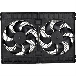 SPAL 30102130 Dual Electric Cooling Fan, Straight Blade, 12 Inch