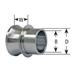 Speedway Motors High Misalignment Spacer,5/8 Inch OD,1/4 In Width