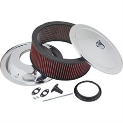Chrome Air Cleaner with Washable Filter, 14 x 5 Inch