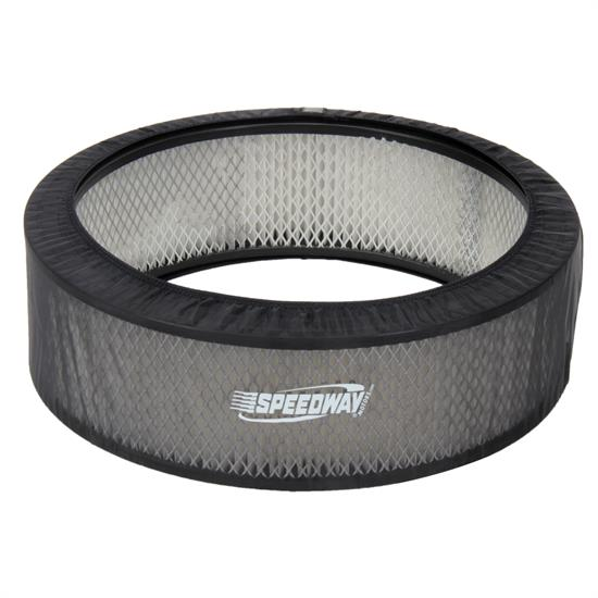 Black Air Filter Cover, 14 x 3 Inch