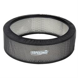 Black Air Filter Cover, 14 x 4 Inch