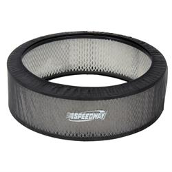 Black Air Filter Cover, 14 x 5 Inch