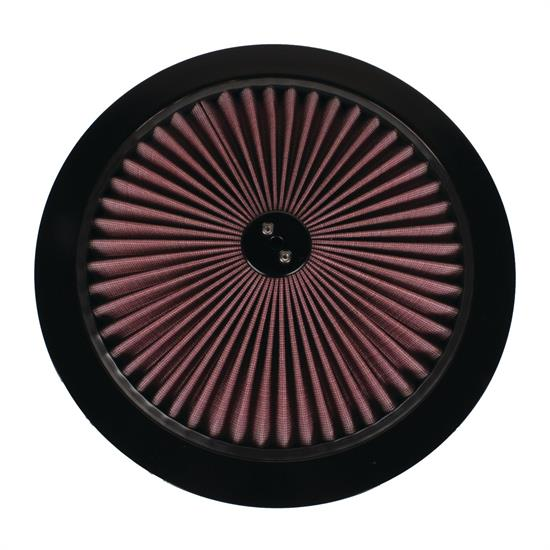 Speedway Super Flow 14 Inch Air Filter Top  Black