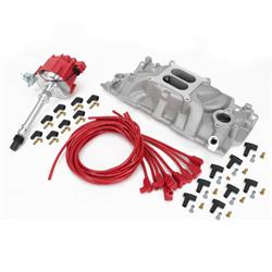 Speedway SBC V8 Intake/Distributor Top End Performance Package