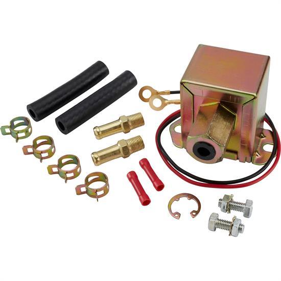 12 Volt Fuel Pump Electric Universal 4-7 PSI 25-35 GPH Fittings Rub Mnt Pad 7781