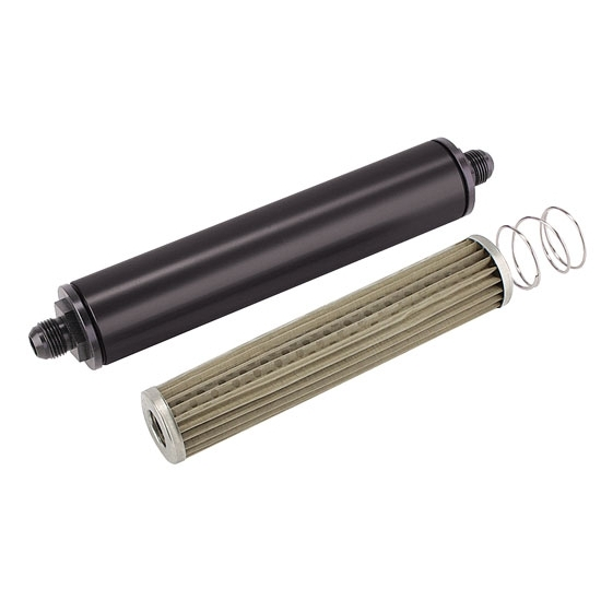 Size : A Black Aluminium Auto Fuel Filter Gas Inline Fuel Filter