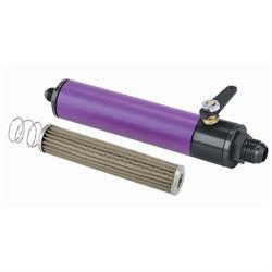 Purple Fuel Filter with Shut-Off, 6 Inch, -10 AN