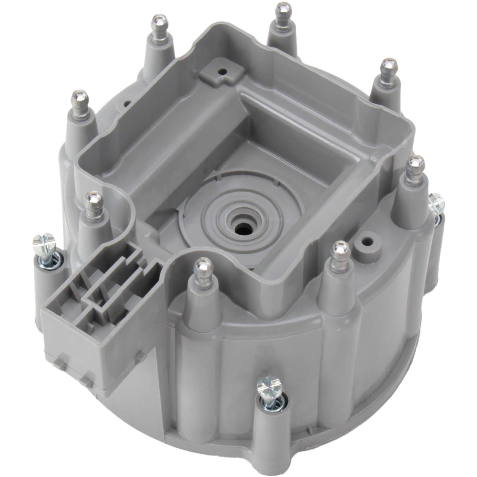 Silver Distributor Cap For Gm Hei V8 Wiring Pig Tail