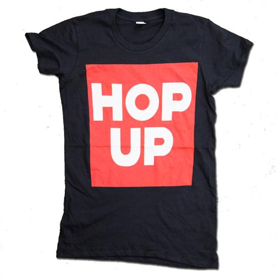 Hop Up Women's Block Black T-Shirt