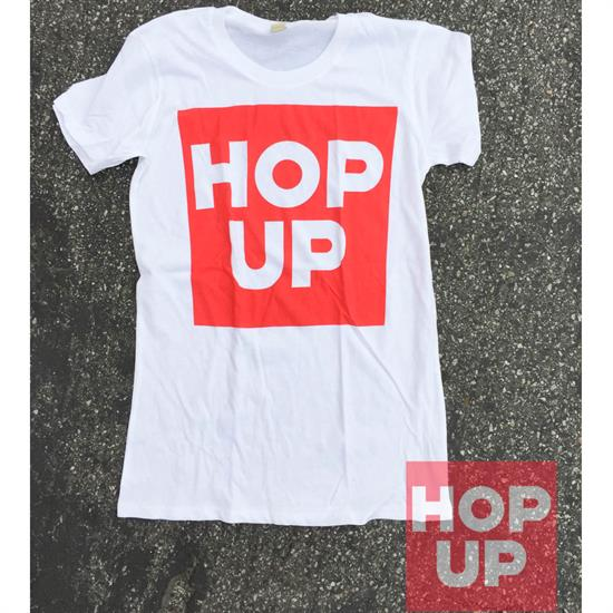 Hop Up Women's Block White T-Shirt